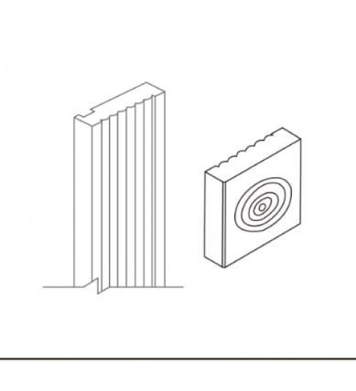 """Rosette Block 3""""W x 3""""H – 4"""