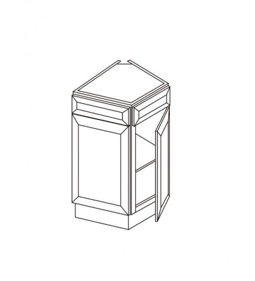 "Base End One Door Corner -24""W x 24""D – 3"