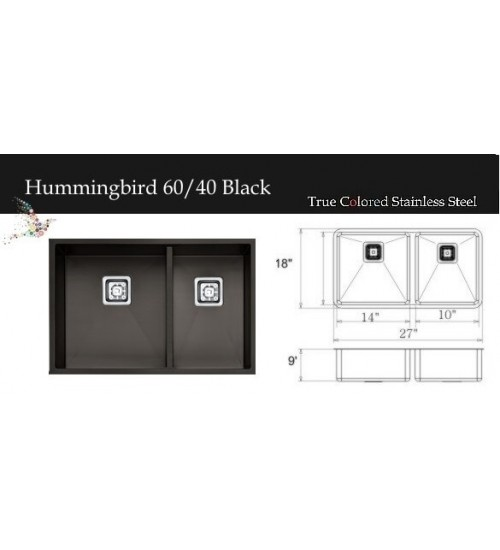 Hummingbird 60/40 Black