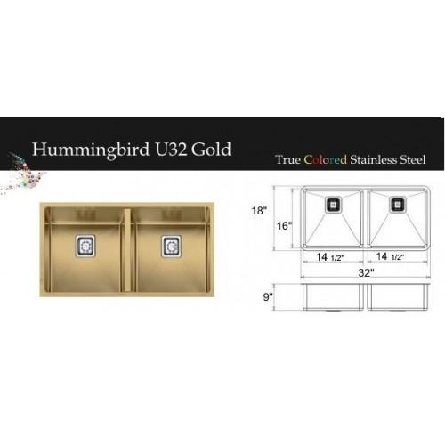 """Hummingbird Series Gold 32""""W"""