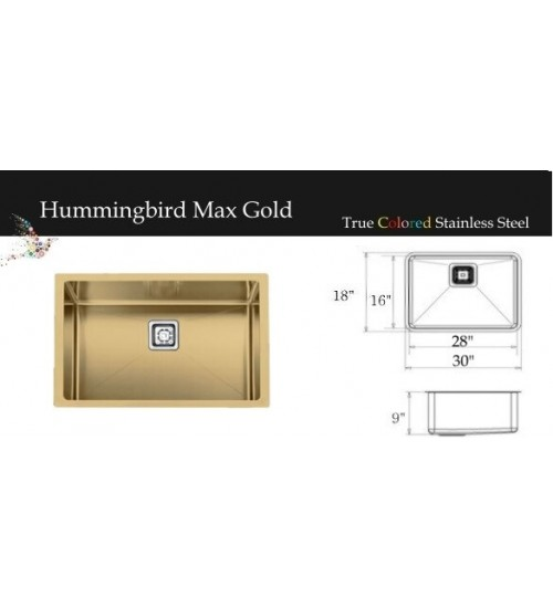 "Hummingbird Series Gold 30""W"