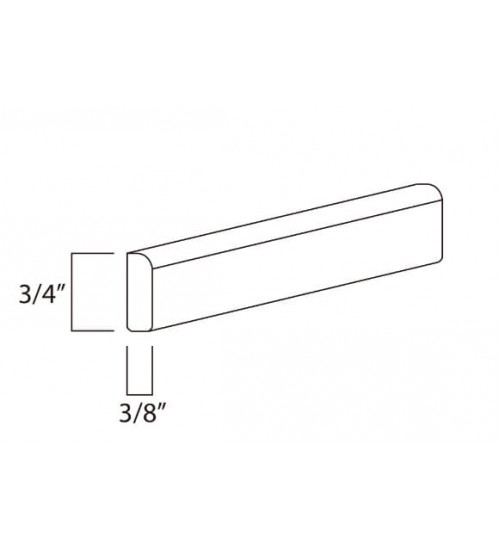 "Scribe Molding 1/4"" Height x 96"" Length – 8"