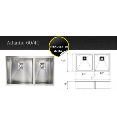 Atlantic 60/40- kitchen sink