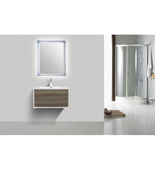 Contempo Vanity with Undermounted sink- Grey