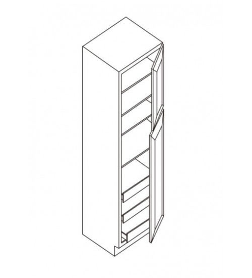 "Wall Pantry 2 Doors 27""D – 4"