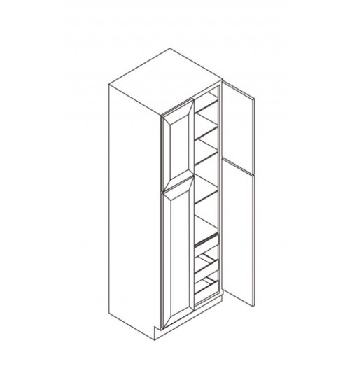 "Wall Pantry 4 Doors 30""W x 27""D – 4"