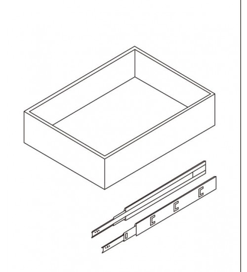 """Roll out Drawers 21""""D x 3""""H – 7"""