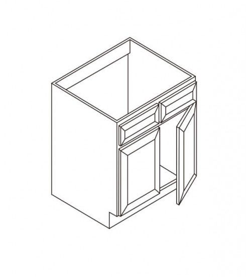 Sink Base- 2 Tip Out drawers 2 Doors – 7