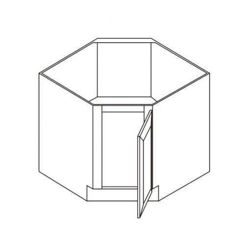 "Corner Sink Base 36"" – Back Panel Has No Opening – 8"