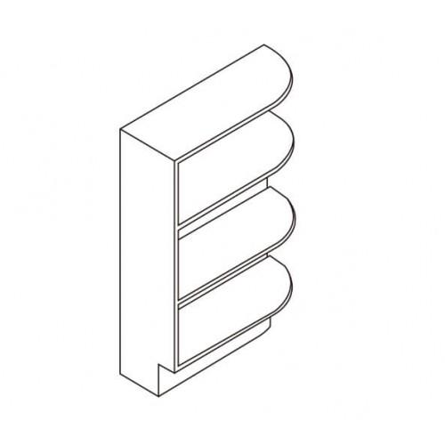 """Base End Shelf 9""""W x 24""""D – 7"""