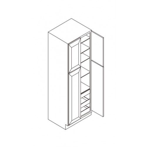 "Wall Pantry 4 Doors 30""W x 27""D – 7"